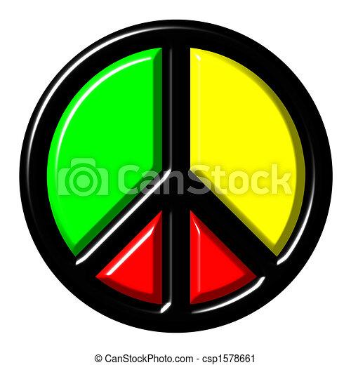 Colorful peace symbol - csp1578661