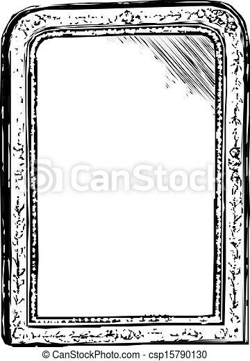 Dessins de vendange cadre croquis miroir miroir for Miroir dessin