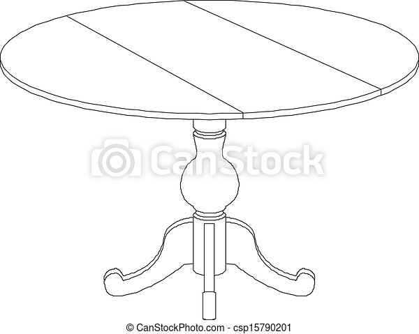 round table drawing stock illustration of round table drawing round table 7182