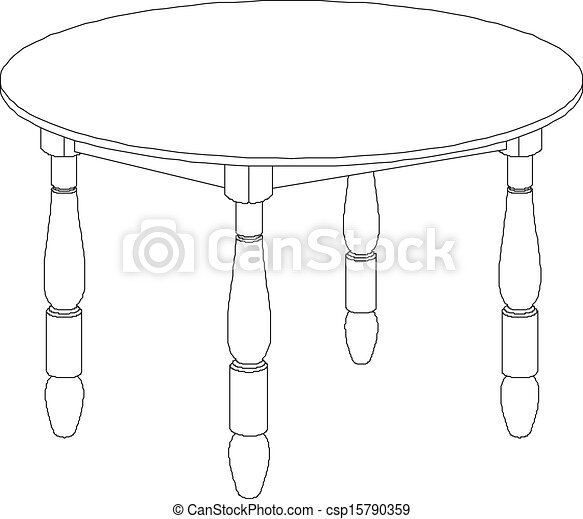 round table drawing clipart vector of round table drawing round table 8828