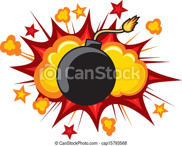 Clip Art Clipart Explosion explosion illustrations and stock art 65650 old bomb starting to explode comic book old