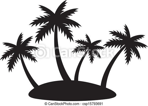 Island Silhouette Clip Art Vector - silhouette of fourIsland Silhouette Clip Art