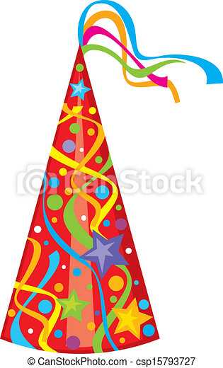 Vector Illustration of party hat (birthday hat) csp15793727 ...
