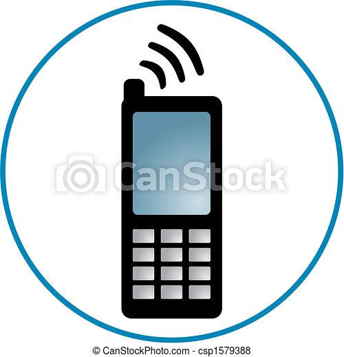 Cellphone Clipart - csp1579388
