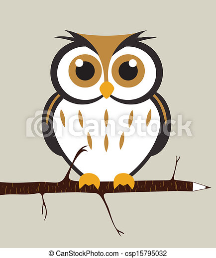 vecteurs de mignon  hibou owl  s u00e9ance  sur  a  crayon baby owl on branch clip art owl on tree branch clip art