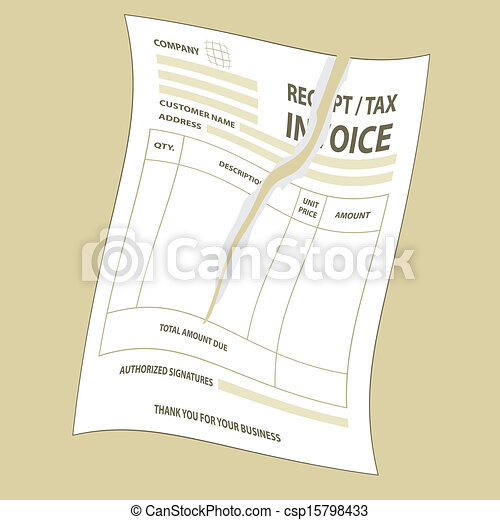 Proximiant Digital Receipts Vectors Of Torn Tax Invoice  Illustration Of Twist Torn Tax  Gst Tax Invoice Template Word with On The Receipt Torn Tax Invoice  Csp Dell Invoices Excel