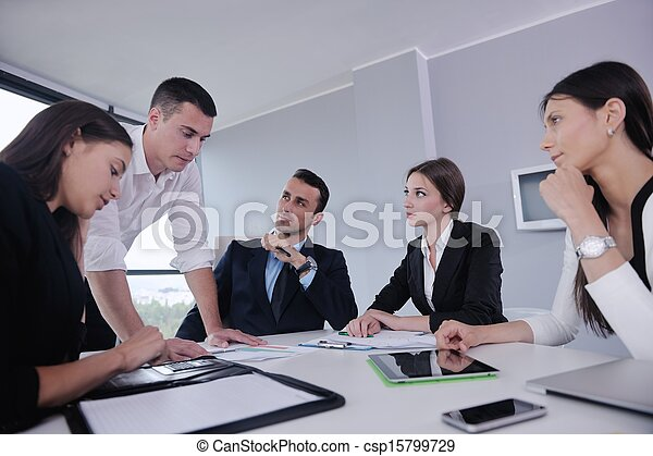 business people in a meeting at office - csp15799729