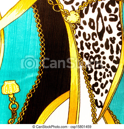 Gold chain looped heart pattern.For art texture or web design and background. - csp15801459