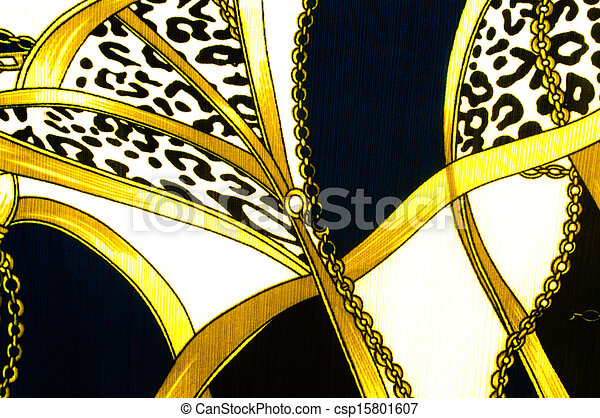 Gold chain looped heart pattern.For art texture or web design and background. - csp15801607