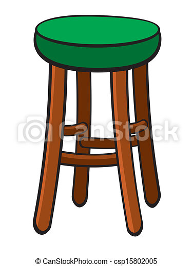 Clipart Vecteur De Barre Tabouret Vecteur Illustration