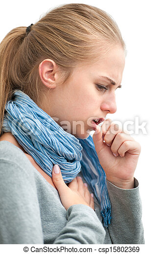 young woman having a cold - csp15802369
