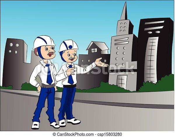 Vector of Building Contractors