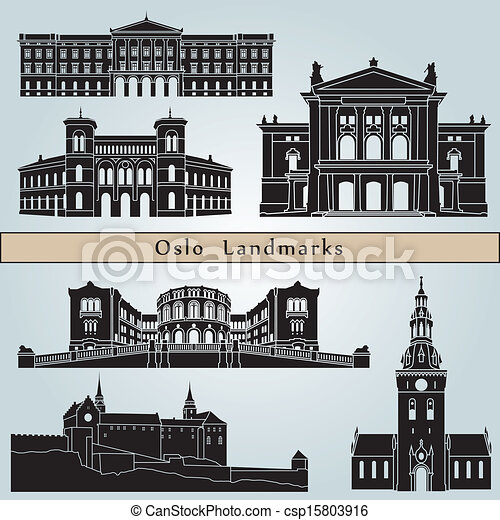 Oslo landmarks and monuments - csp15803916