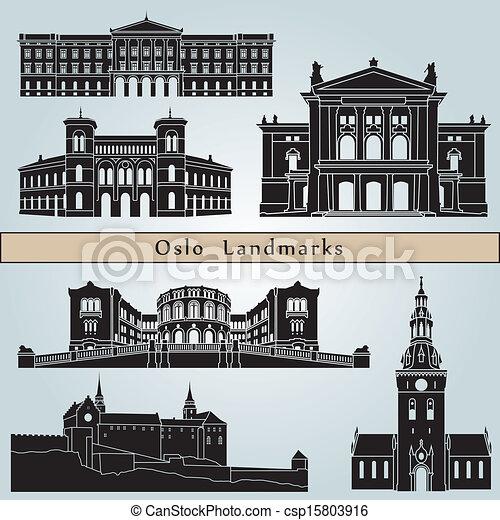 Oslo landmarks and monuments - csp15803916