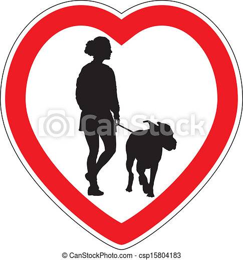 Symbol of space for walking dogs - csp15804183