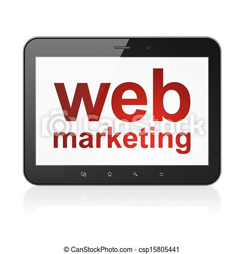 Web design concept: Web Marketing on tablet pc computer - csp15805441
