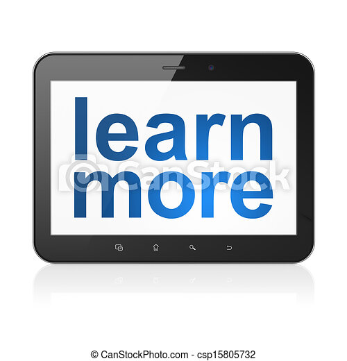 Education concept: Learn More on tablet pc computer - csp15805732