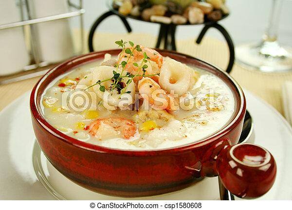 Seafood Chowder - csp1580608