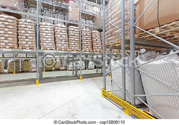 Stock Photography of Warehouse - Distribution center ...