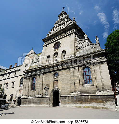 Bernardine church and monastery in Lviv,Western Ukraine - csp15808673