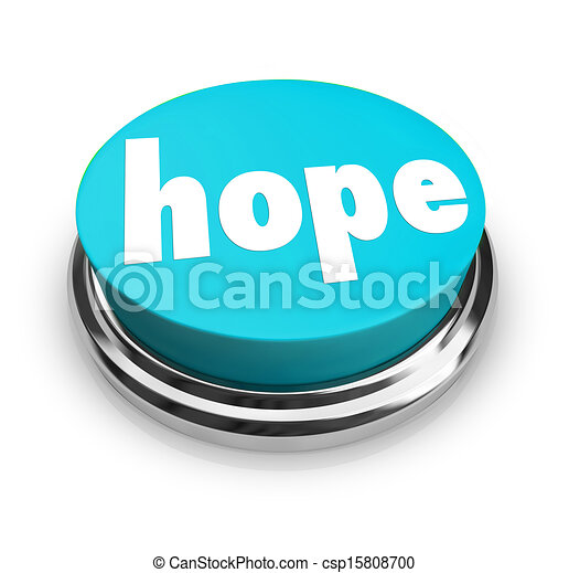 Hope Word Button Faith Spirituality Religion - csp15808700