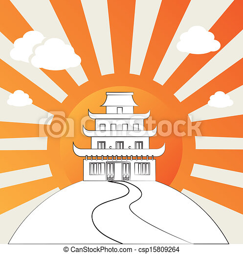 Chinese Temple Vector Chinese Temple Clip Art Vector