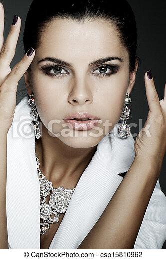bello, stile, moda, foto, matrimoni, Decorazioni, ragazza - csp15810962