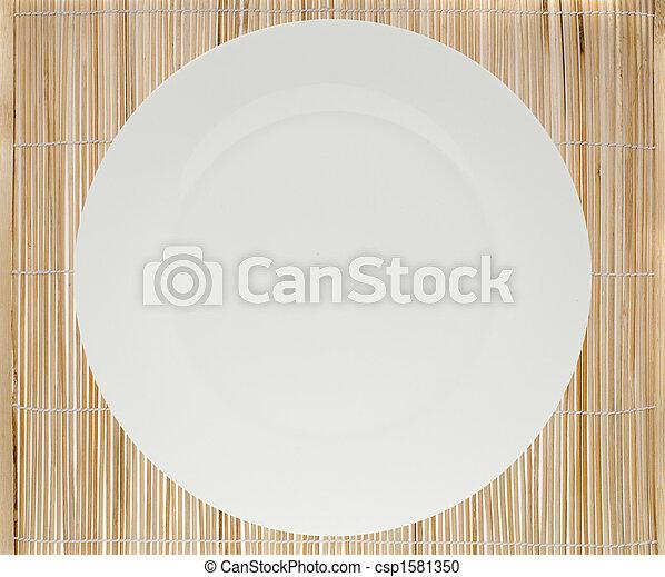 盤子, 地方, 蓆子 - csp1581350
