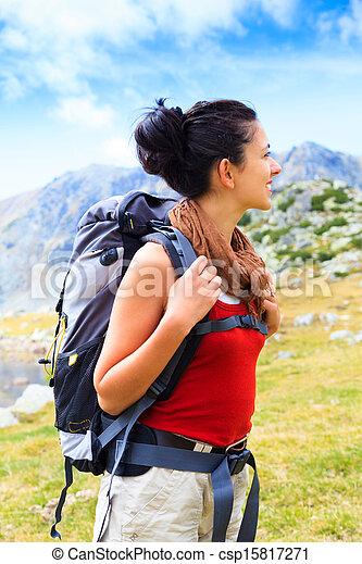 Looking at Beautiful Mountains - csp15817271