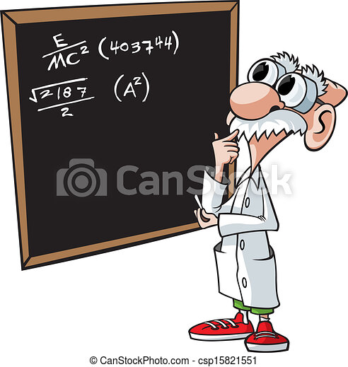 Mathematician Clipart clipart vector of brainiac - cartoon scientist ...