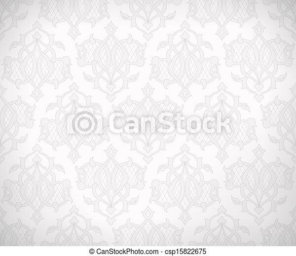 Vintage seamless pattern for background design - csp15822675