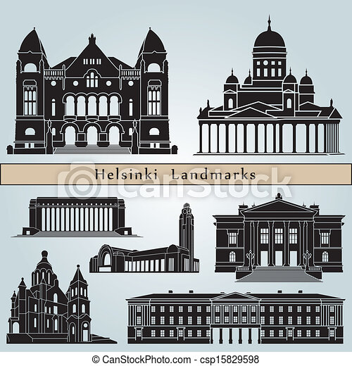 Helsinki landmarks and monuments - csp15829598