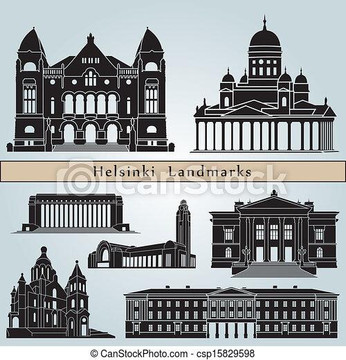 Helsinki landmarks and monuments - csp15829598