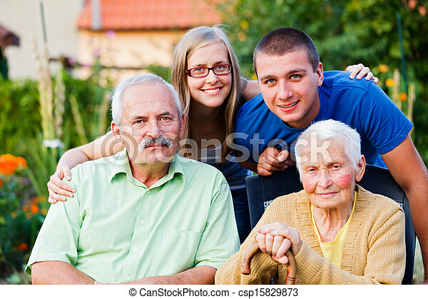Family in Residential Care Home - csp15829873