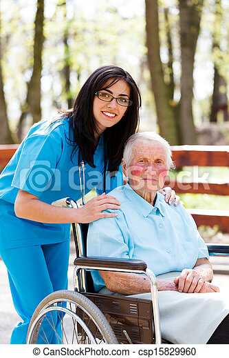 Taking Care of Elder People - csp15829960