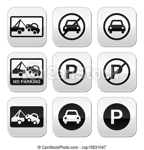 No parking, cars buttons set - csp15831047
