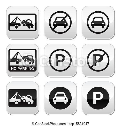 No parking, cars buttons set - csp15831047