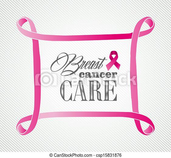 Breast cancer awareness concept frame illustration EPS10 file. - csp15831876