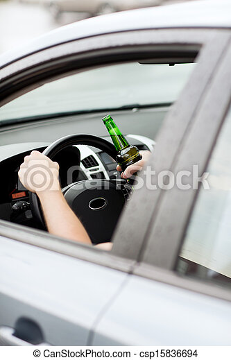 Stock Photo - man drinking alcohol while driving the car - stock image ...