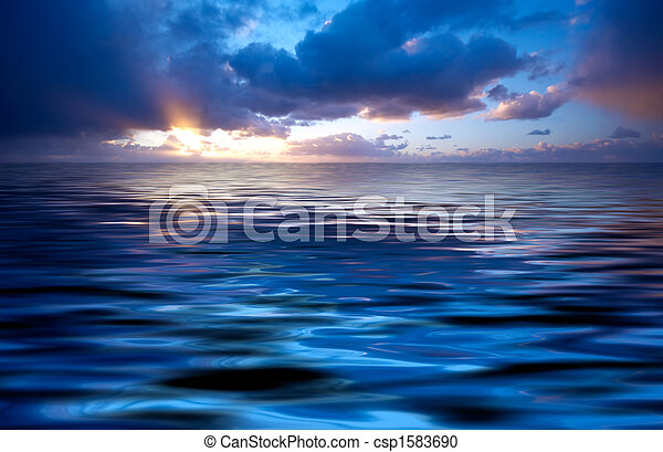 abstract ocean and sunset - csp1583690
