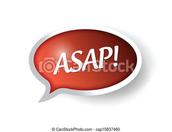 Asap Logo Vector Vector Asap Message Bubble