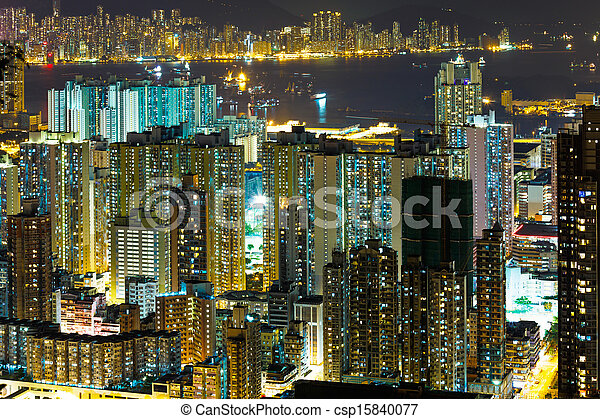 Residential building in Hong Kong - csp15840077