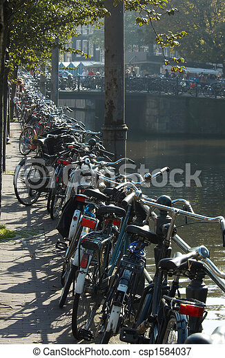 bicycles in amsterdam - csp1584037