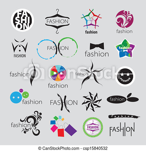 Colección, de, vector, Logotipos, para, ropa, y, Moda, accesorios
