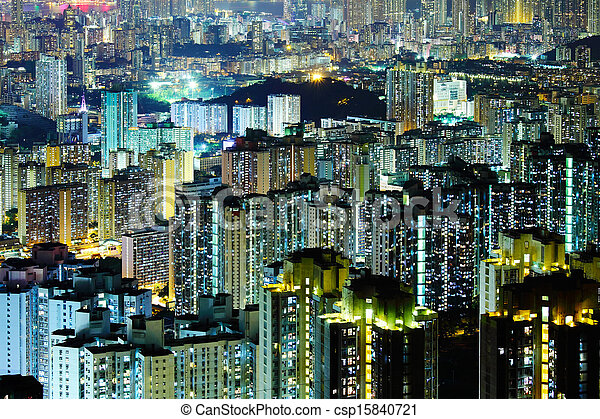 Residential building in Hong Kong - csp15840721