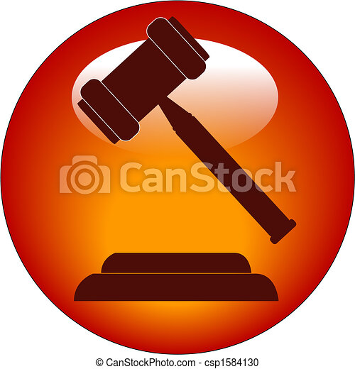 gavel button or icon - csp1584130