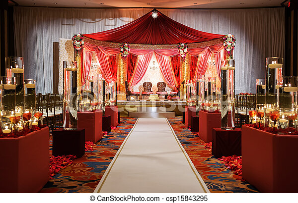 Indian wedding mandap ceremony - csp15843295