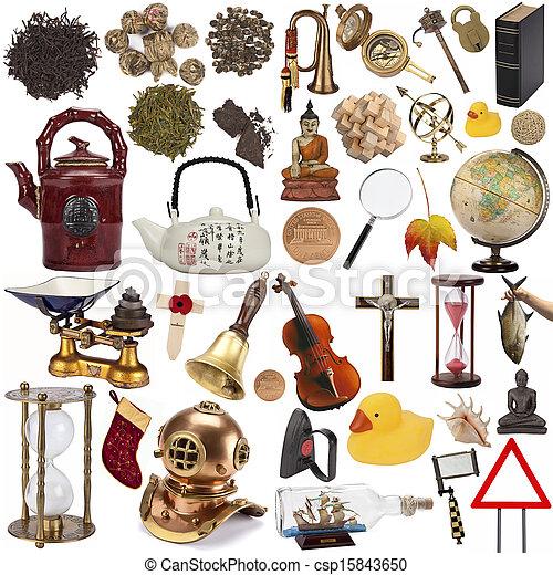 taglio,  -, isolato, oggetti, fuori - csp15843650