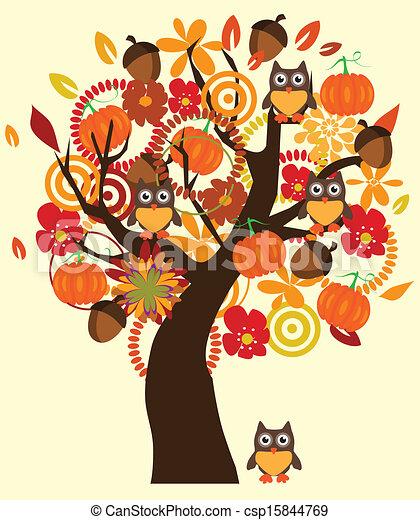 Fall Tree - csp15844769