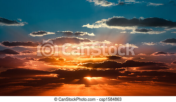 beau, Levers de Soleil - csp1584863